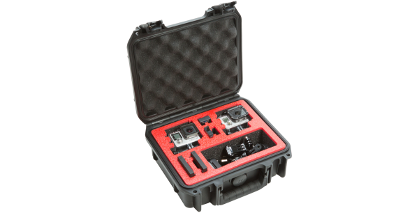 Black Waterproof Camera Case with Custom Interior Design