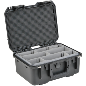 Black Waterproof Utility Case with Custom Interior Dividers