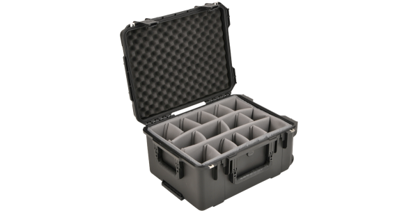Black Waterproof Utility Case with Dividers