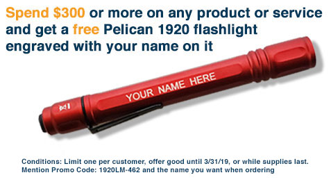 Pelican Flashlight Promo