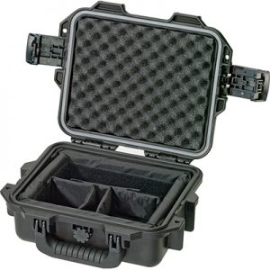 Black utility hard case with foam interior