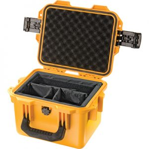Yellow utility hard case with foam interior