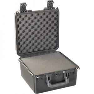 Black utility hard case with foam interior