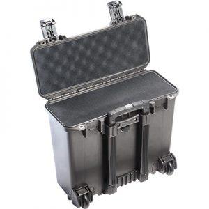 Black hard case with foam interior